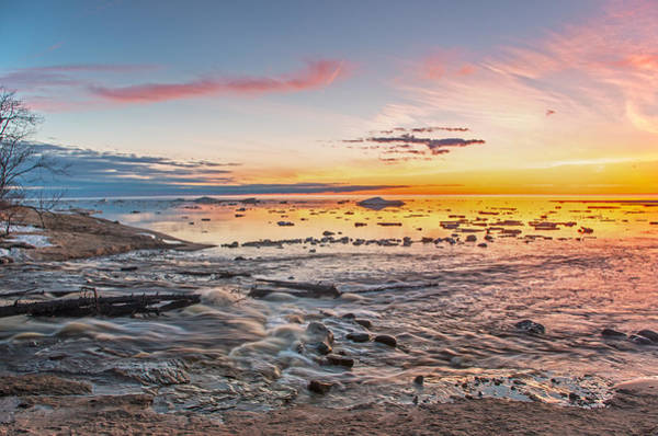 Photograph - Sunset Over The Mouth Of The Hurricane River by Gary McCormick