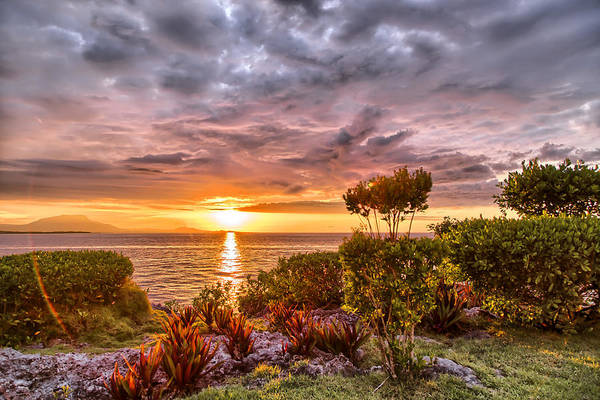 Puerto Plata Photograph - Sunset Over The Ocean In Dominican Republic by Dmitry Sergeev