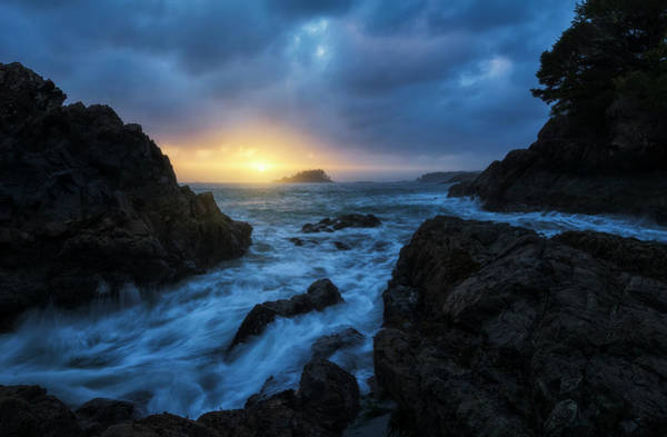 Wall Art - Photograph - Sunset Over The Ocean Near The Town by Robert Postma