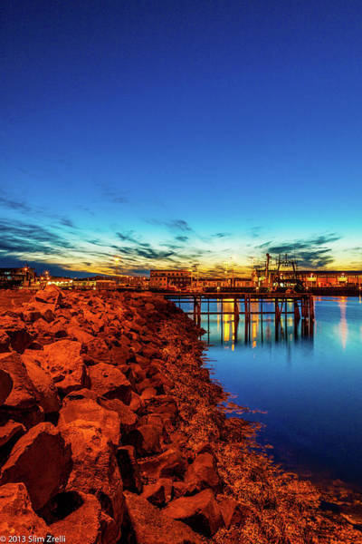Reykjavik Photograph - Sunset Over The Old Harbor by © Slim Zrelli Photography