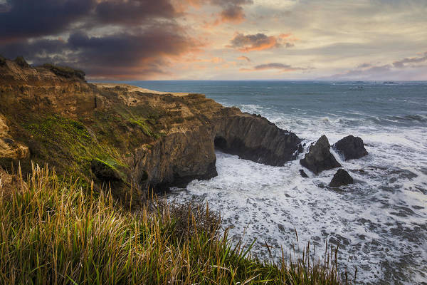 Photograph - Sunset Over The Oregon Coast by Debra and Dave Vanderlaan