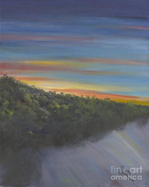 Wall Art - Painting - Sunset Over The Patuxt River by Gloria Condon