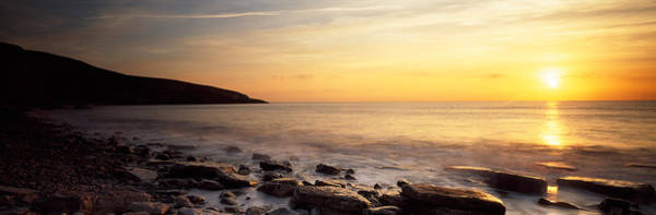 Peacefulness Photograph - Sunset Over The Sea, Celtic Sea, Wales by Panoramic Images