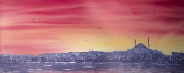 Painting - Sunset Over The Sea Of Marmar by Rafay Zafer