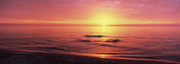 Sea Of Serenity Photograph - Sunset Over The Sea, Venice Beach by Panoramic Images