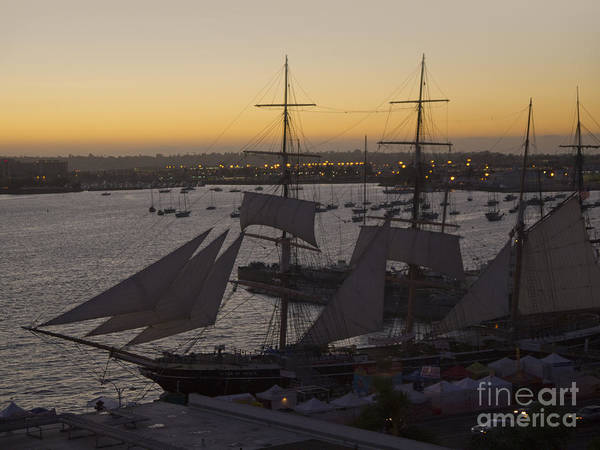 Photograph - Sunset Over The Tall Ships by Brenda Kean
