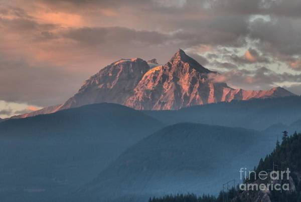 Photograph - Sunset Over The Tantalus Mountains In Squamish by Adam Jewell