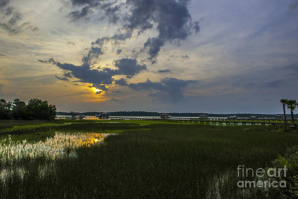 Photograph - Lowcountry Sunset Over The Wando River by Dale Powell