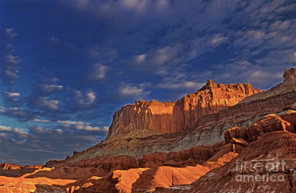 Photograph - Sunset Over The Waterpocket Fold Capitol Reef National Park by Dave Welling