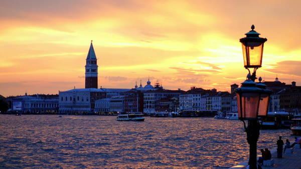 Tramonto Photograph - Sunset Over Venice by Valentino Visentini