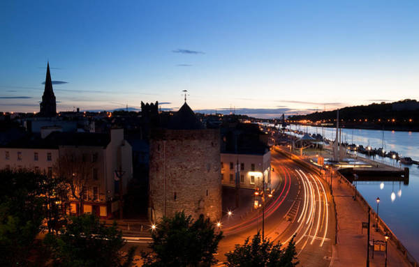 Suir Photograph - Sunset Over Waterford City, County by Panoramic Images