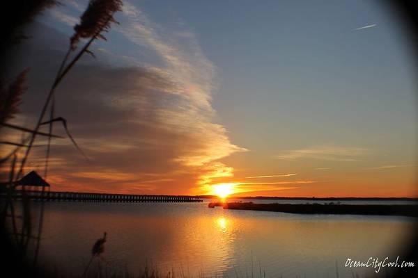 Photograph - Sunset Over Wetlands by Robert Banach