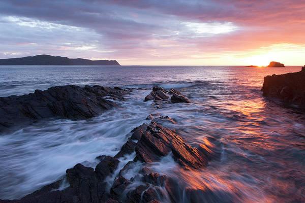Wall Art - Photograph - Sunset Overlooking Horn Head by Peter McCabe