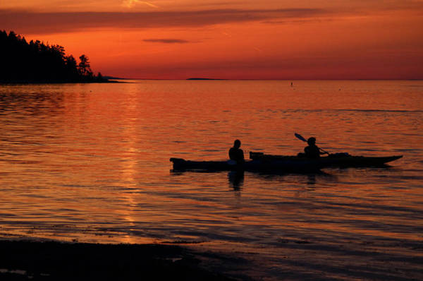 Photograph - Sunset Paddle by Randy Hall