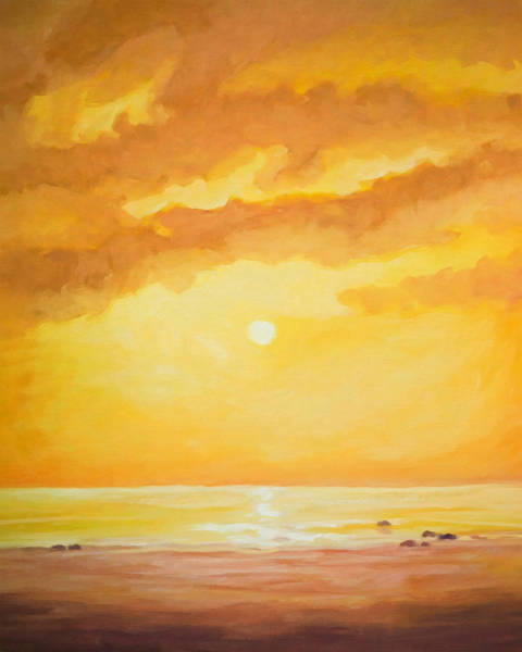Painting - Sunset Painting by Lutz Baar