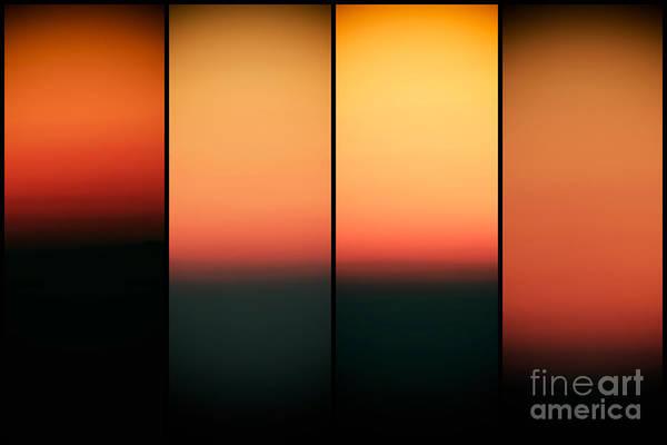 Photograph - Sunset Panels by John Rizzuto