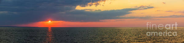 Sun Set Photograph - Sunset Panorama Over Atlantic Ocean by Elena Elisseeva