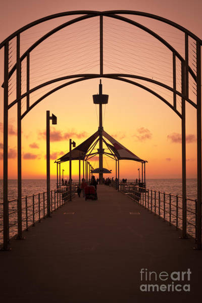 Photograph - Sunset Pier by Ray Warren