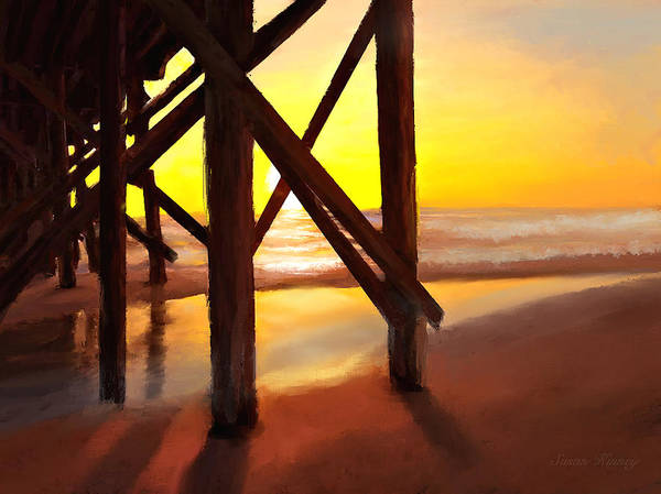 Digital Art - Sunset Pier by Susan Kinney