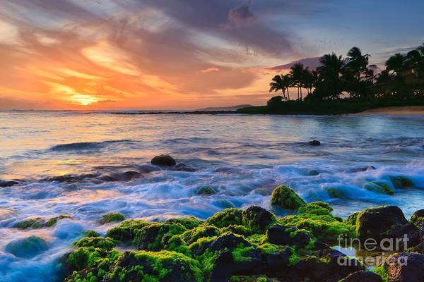 Meijer Wall Art - Photograph - Sunset Poipu Beach - Kauai by Henk Meijer Photography