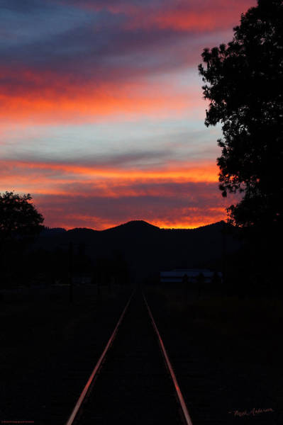 Rogue Valley Photograph - Sunset Rail In The Rogue Valley by Mick Anderson