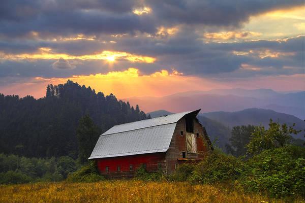 Oregon Ridge Photograph - Sunset Ranch by Debra and Dave Vanderlaan