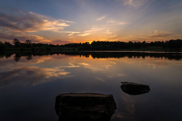 Core Photograph - Sunset Reflecting by Kristopher Schoenleber