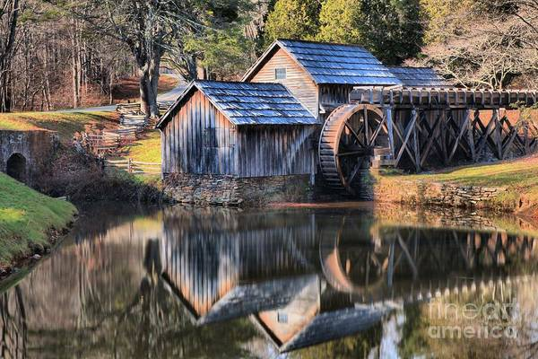 Photograph - Sunset Reflections At Mabry Mill by Adam Jewell