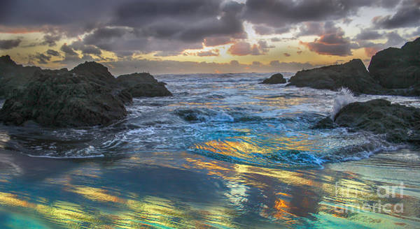Marine Layer Photograph - Sunset Reflections by Robert Bales