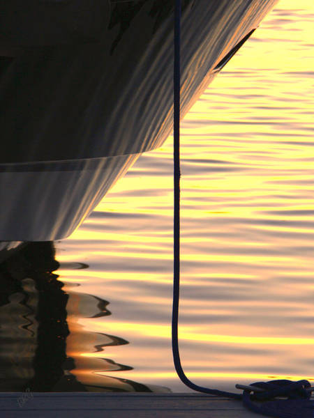 Photograph - Sunset Reflections With Boat No 2 by Ben and Raisa Gertsberg