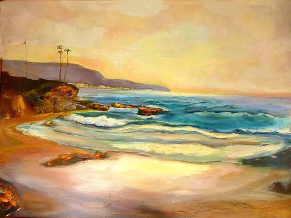 Laguna Beach Painting - Sunset by Renuka Pillai