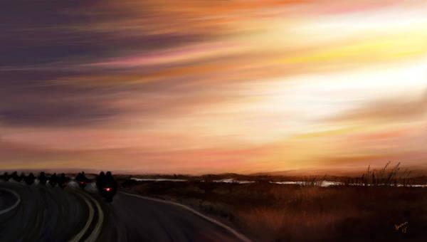 Digital Art - Sunset Riders by Susan Kinney