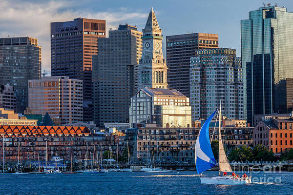 Photograph - Sunset Sail Under The Tower by Susan Cole Kelly