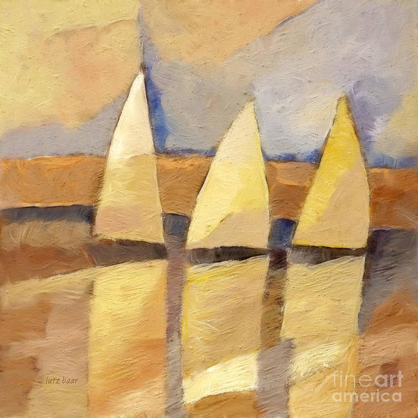 Painting - Sunset Sailing by Lutz Baar