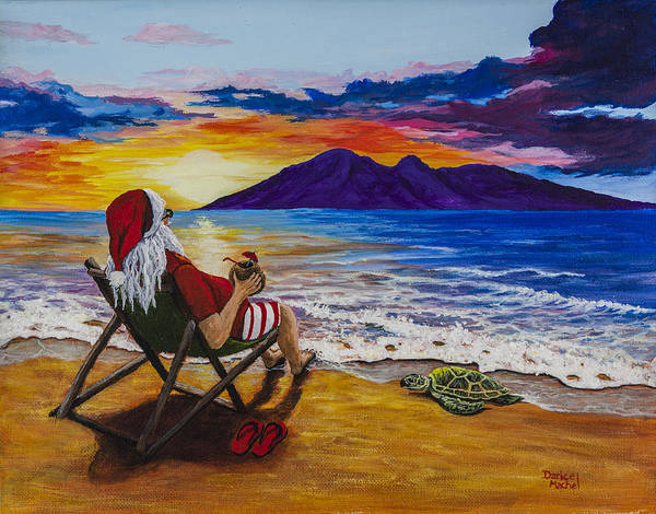 Painting - Sunset Santa by Darice Machel McGuire
