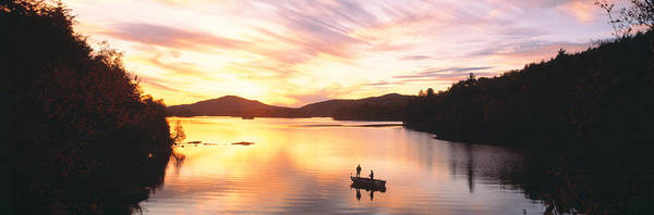 Anchor Photograph - Sunset Saranac Lake Franklin Co by Panoramic Images