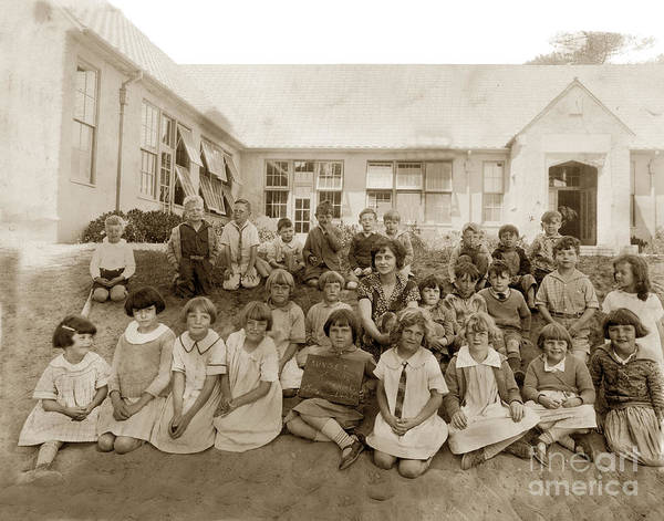 Photograph - Sunset School First Grade 1927 Carmel California by California Views Archives Mr Pat Hathaway Archives