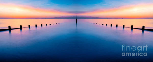 Wind Farm Photograph - Sunset Seascape IIi by Adrian Evans
