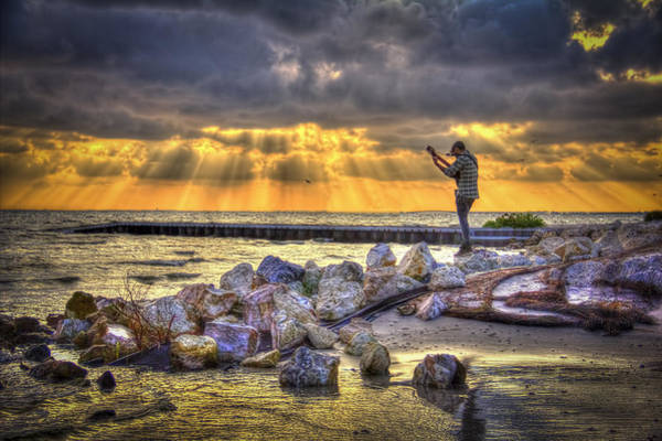 Seabirds Wall Art - Photograph - Sunset Serenade  by Marvin Spates