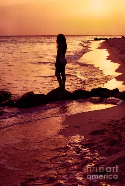 Photograph - Sunset Silhouette Druif Beach Aruba by Thomas R Fletcher