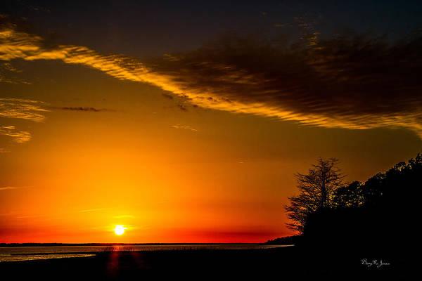 Photograph - Landscape - Sunset - Sunset Silhouettes by Barry Jones