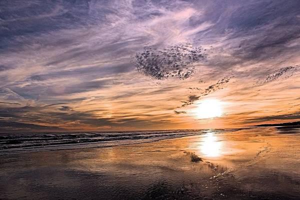 Kiawah Island Photograph - Sunset Sky And Reflections by Rosanne Jordan