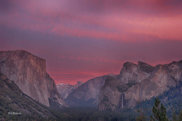 Bridal Photograph - Sunset Sky Yosemite by Bill Roberts