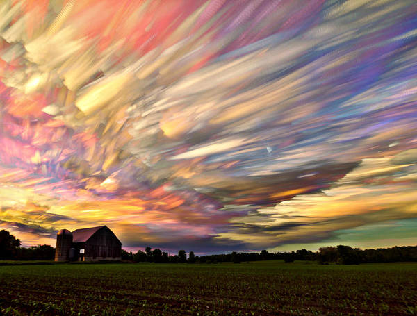 Corn Field Photograph - Sunset Spectrum by Matt Molloy