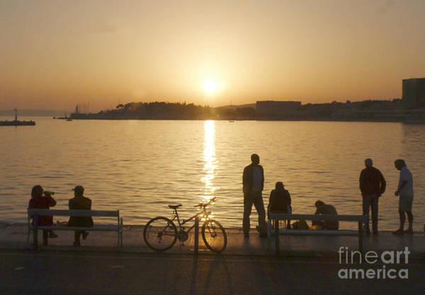 Photograph - Sunset - Split - Croatia by Phil Banks