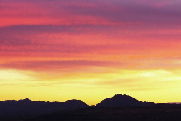 Southwest Usa Photograph - Sunset Stratus Clouds Southwest by Chuckschugphotography