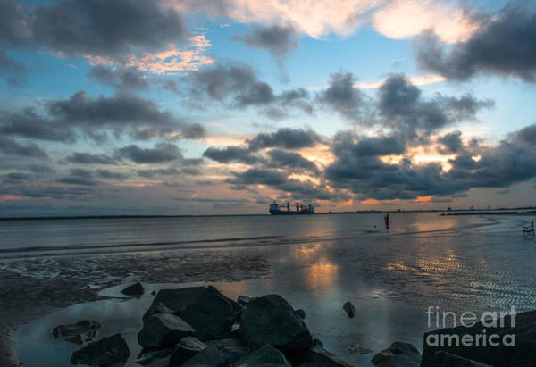 Photograph - Sunset Surf Fishing by Dale Powell