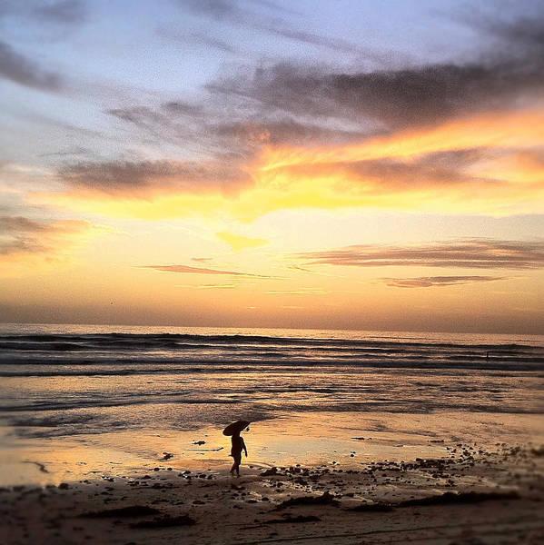 Photograph - Sunset Surfer by Paul Carter