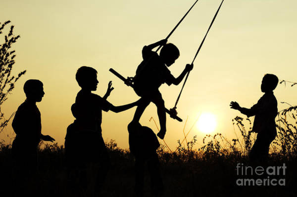 Wall Art - Photograph - Sunset Swing by Tim Gainey