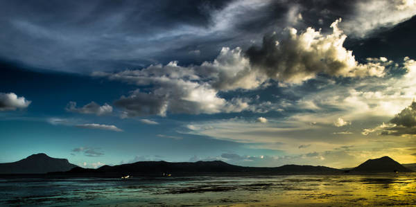 Photograph - Sunset Taal Volcano by Michael Arend